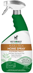 Vet's Best Natural Flea & Tick Home Spray 32 oz. The Bramton Company