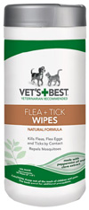 Vet's Best Flea & Tick Wipes 50 ct. The Bramton Company