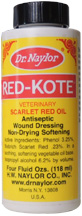 Red-Kote Antiseptic Wound Dressing, 4 oz. Dauber Bottle