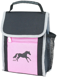 Lunch Sack: Galloping Horse / Pink