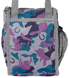 Lila Camo Lunch Sack GREY & BLUE #GG779GR