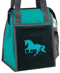 Lila Horse Lunch Sack TEAL #GG737TE