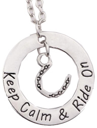 Necklace Keep Calm & Ride On #JN120