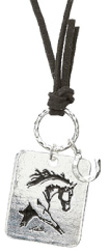 Lila Extented Trot Cord Necklace SILVER TONE #JN116S