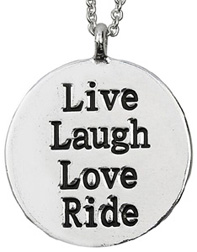 """Lila"" Two Sided Necklace WORD Live, Laugh, Love, Ride #JN112"