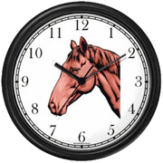 Bay Colored Horse Clock WatchBuddy Watches