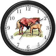 Mare & Foal Clock WatchBuddy Watches