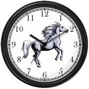 White Stallion Horse Clock WatchBuddy Watches