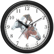 Horse Collage Three Paints Clock WatchBuddy Watches