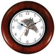 Brown & White Paint or Pinto Horse Clock WatchBuddy Watches