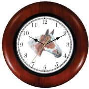 Chestnut White Paint or Pinto Horse Clock WatchBuddy Watches
