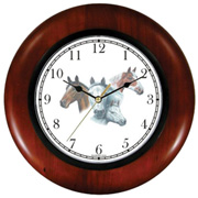 Brown Paint White Mare & Foal Clock WatchBuddy Watches