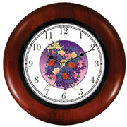 Flowers Bouquet 1 Wooden Clock WatchBuddy Watches