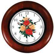 Red & Peach Roses Bouquet Clock WatchBuddy Watches