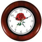 Red Rose Wooden Clock WatchBuddy Watches