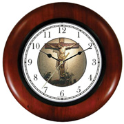 Sculpture of Christ on Cross Clock WatchBuddy Watches