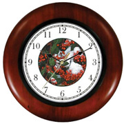 Snow Holly Berries Mistletoe Clock WatchBuddy Watches