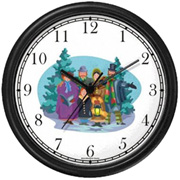 Christmas Carollers Clock WatchBuddy Watches
