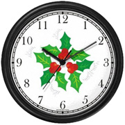 Christmas Mistletoe Clock WatchBuddy Watches