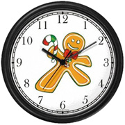 Ginger Man with Candy Cane Clock WatchBuddy Watches