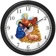 Nativity Scene in Manger Clock WatchBuddy Watches
