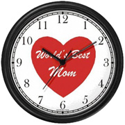 Red Heart World's Best Mom Clock WatchBuddy Watches