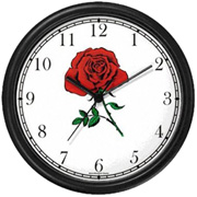 Red Rose Clock WatchBuddy Watches