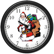 Santa Claus w/ Bag of Presents Clock WatchBuddy Watches