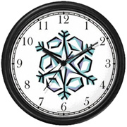 Snow Flake Clock WatchBuddy Watches