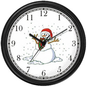 Snow Man with Scarf Clock WatchBuddy Watches