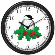 Black Capped Chickadee/Christmas Mistletoe WatchBuddy Watches