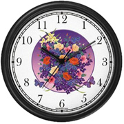 Butterflies & Flowers Bouquet Clock WatchBuddy Watches
