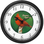 Cardinal / Season Greetings Clock WatchBuddy Watches
