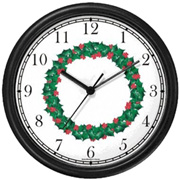 Christmas Wreath Clock WatchBuddy Watches