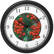 Holly Berries & Mistletoe Clock WatchBuddy Watches