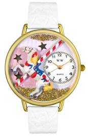 Carousel Watch / Gold Whimsical Watches