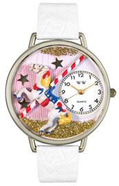 Carousel Watch / Silver Whimsical Watches