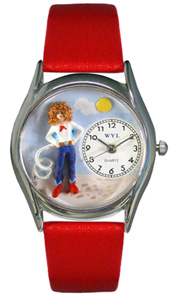 Cowgirl Watch / Classic Silver Whimsical Watches