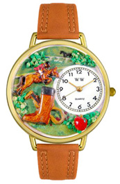 Horse Competition Watch / Gold Whimsical Watches