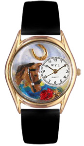 Horse Head Watch / Classic Gold Whimsical Watches