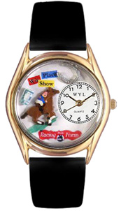 Horse Racing Watch / Classic Gold Whimsical Watches