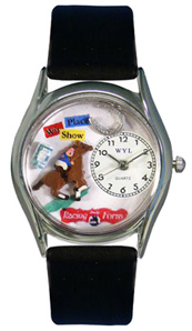 Horse Racing Watch / Classic Silver Whimsical Watches