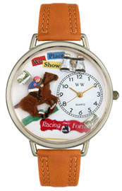 Horse Racing Watch / Silver Whimsical Watches