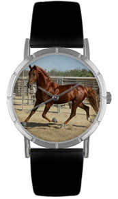 merican Saddlebred / Classic Silver Whimsical Watches