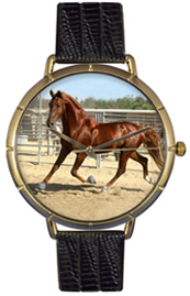 American Saddlebred Watch/Gold Whimsical Watches
