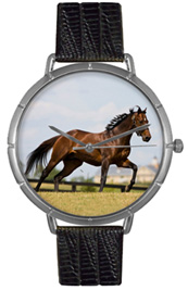 Thoroughbred Horse Watch / Gold Whimsical Watches