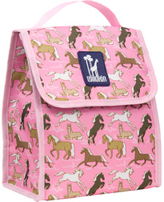 Horses in Pink Munch 'n Lunch Bag Wildkin