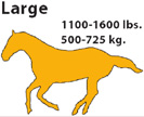 Large Horse 1100 - 1600 lbs.