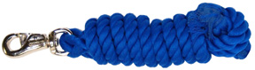 Cowboy Rope Lead w/ Nickel Bull Snap 10ft BLUE Hamilton Animal Products