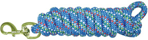 Extra Heavy Poly Rope Lead 10ft Confetti BERRY BLUE Hamilton Animal Products